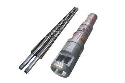 锥形双螺杆挤出机机筒螺杆
